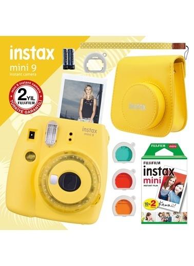 Fujifilm instax mini 9 Sari Fotograf Makinesi ve Hediye Seti 4 Renkli